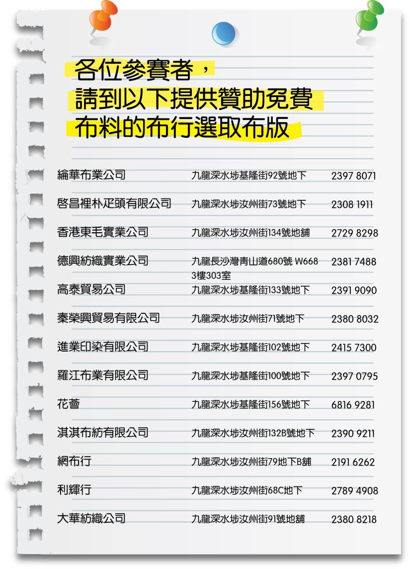 textile list
